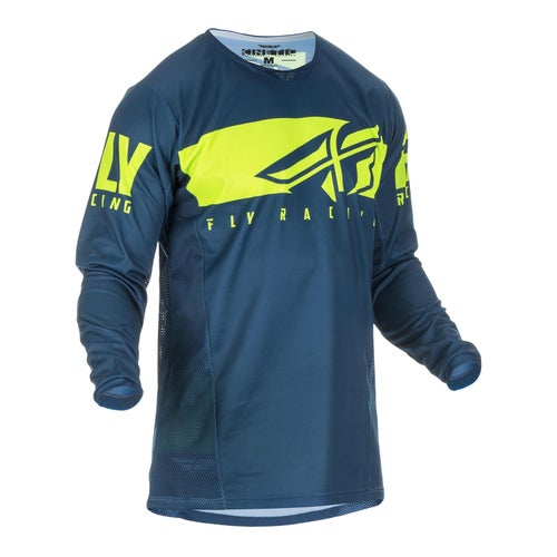 Fly Kinetic Shield Jersey Motocross Jerseys - Navy hi-vis