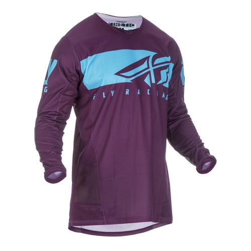 Fly Kinetic Shield Jersey Motocross Jerseys - Port Blue