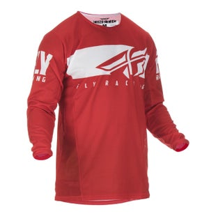 Fly Kinetic Shield Jersey Motocross Jerseys - Red White