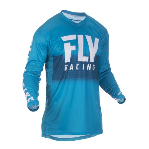 Fly Lite Hydrogen Jersey Motocross Jerseys - Blue White