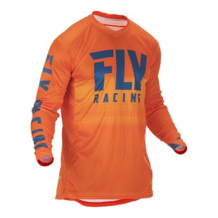 Fly Lite Hydrogen Jersey Motocross Jerseys - Orange Navy