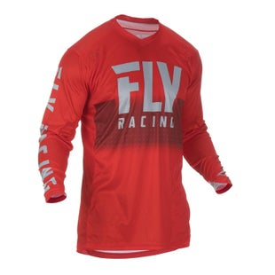 Fly Lite Hydrogen Jersey Motocross Jerseys - Red Grey