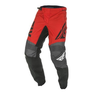 Fly F-16 Pants MX Kalhoty - Red Black Grey