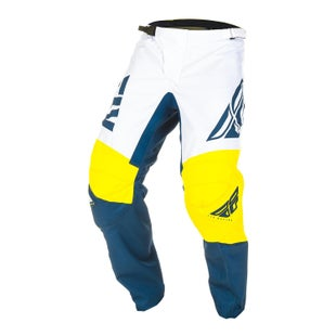 Fly F-16 Pants MX Kalhoty - Yellow White Navy