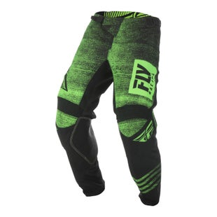 Fly Kinetic Noiz Pants MX Kalhoty - Neon Green Black