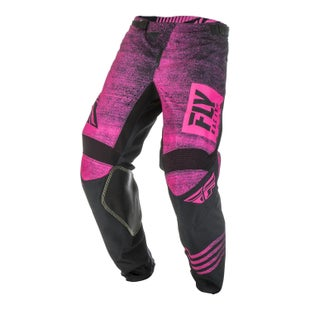 Fly Kinetic Noiz Pants MX Kalhoty - Neon Pink Black