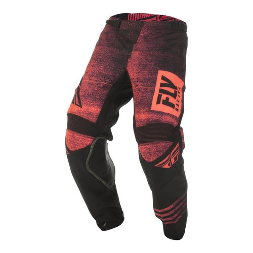 Fly Kinetic Noiz Pants MX Hosen - Neon Red black