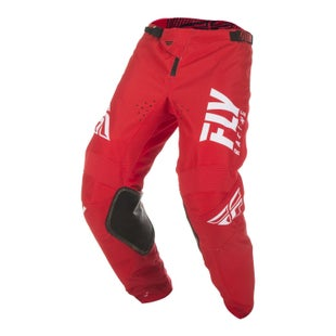 Fly Kinetic Shield Pants MX Kalhoty - Red White