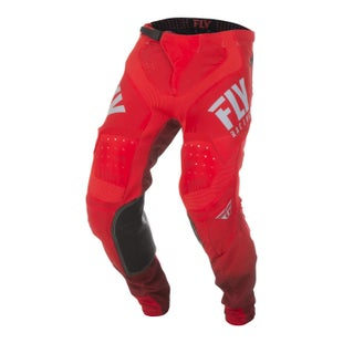 Fly Lite Hydrogen Pants MX Kalhoty - Red Grey