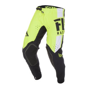 Fly Evolution Dst Pants MX Kalhoty - Hi-vis Black White