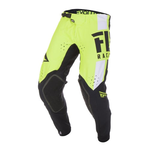 Fly Evolution Dst Pants MX Hosen - Hi-vis Black White