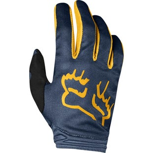 Fox Racing Dirtpaw Mata Enduro Motocross Gloves - Navy Yellow