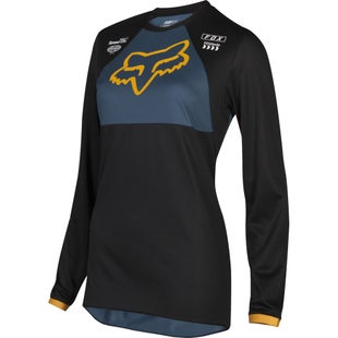 Fox Racing Womans 180 Mata Drip Enduro and Womens Motocross Jerseys - Black Navy