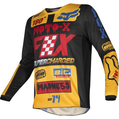 Fox Racing 180 Czar Kids Enduro and Motocross Jerseys - Black Yellow