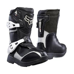 Fox Racing Comp 5k Boys Pee Wee Motocross Boots - Black Silver