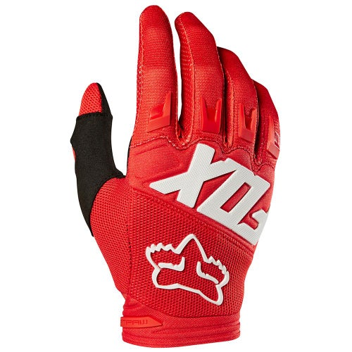 Fox Racing Dirtpaw Race Enduro Boys Motocross Gloves - Red