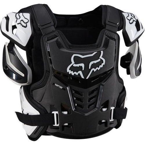 Fox Racing Raptor Vest Roost Deflectors - Black White