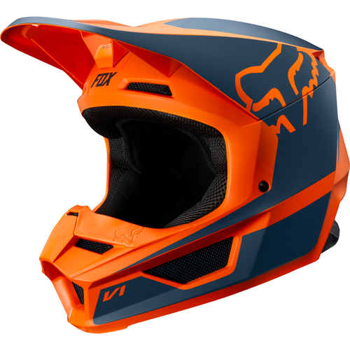 Fox Racing V1 Przm YOUTH Motocross Helmet - Orange