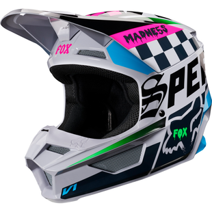Fox Racing V1 Czar MX Motocross Helmet - Light Grey