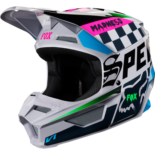 Fox Racing V1 Czar MX YOUTH Motocross Helmet - Light Grey