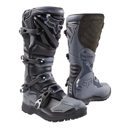 Fox Racing Comp 5 Off Road Enduro Motocross Boots - Black Grey