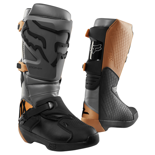 Fox Racing Comp Motocross Boots - Black Brown Grey