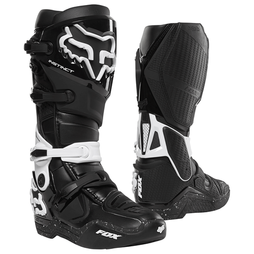 Fox Racing Instinct Motocross Boots - Black White