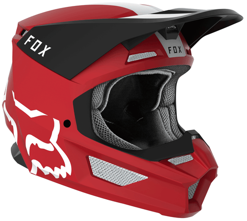 Fox Racing V1 Mata Motocross Helmet - Cardinal Red