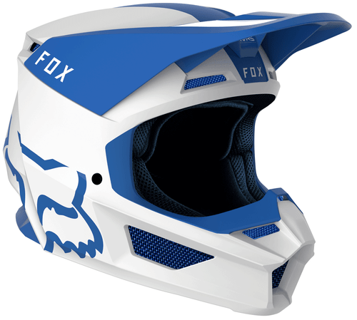 Fox Racing V1 Mata Motocross Helmet - Blue White