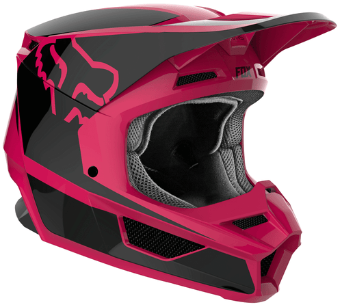 Fox Racing V1 Przm Motocross Helmet - Black Pink