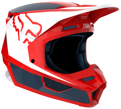 Fox Racing V1 Przm Motocross Helmet - Navy Red