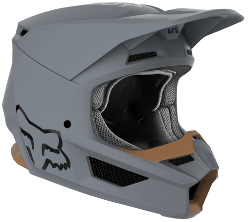 Fox Racing V1 Matte Motocross Helmet - Matte Grey