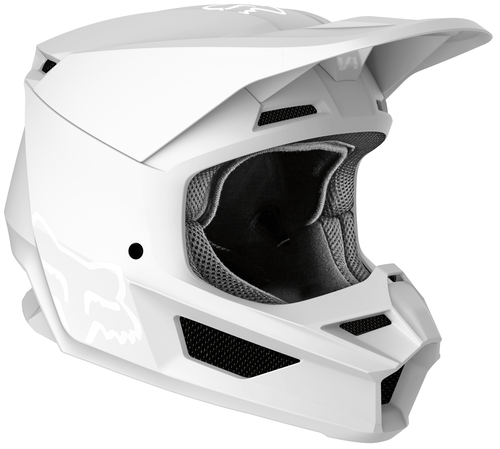 Fox Racing V1 Matte Motocross Helmet - Matte White