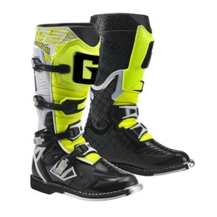 Bottes MX Gaerne Boots G React - White Black Yellow