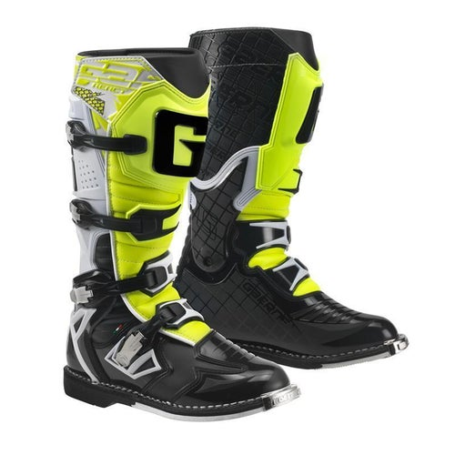 Gaerne Boots G React Motocross Boots - White Black Yellow