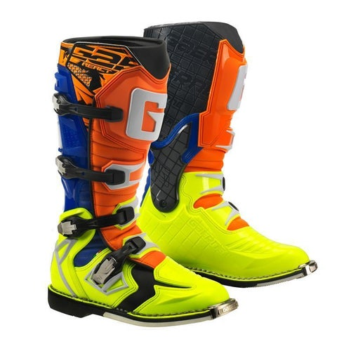 Gaerne Boots G React Motocross Boots - Orange Blue Yellow