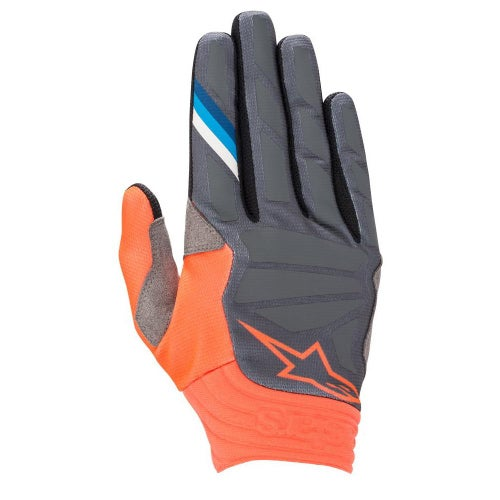 Alpinestars Aviator Motocross Gloves - Anthracite Orange Fluo