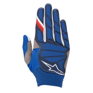 Alpinestars Aviator Motocross Gloves - Dark Blue White