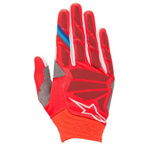 Alpinestars Aviator Motocross Gloves - Red Burgundy
