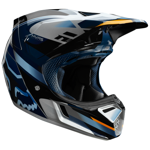 Fox Racing V3 Motif Motocross Helmet - Blue Sliver