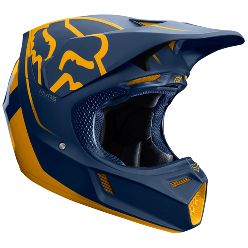 Fox Racing V3 Kila Motocross Helmet - Navy Yellow