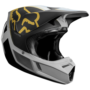 Fox Racing V3 Kila Motocross Helmet - Grey Yellow