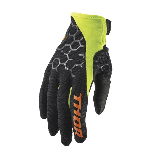 MX Glove Thor Draft MX Motocross and Enduro - Black Acid