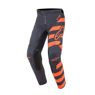 Calzones de MX Alpinestars Youth Racer Braap - Anthracite Orange Fluo