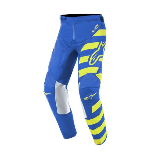 Alpinestars Youth Racer Braap Motocross Pants - Blue Yellow Fluo
