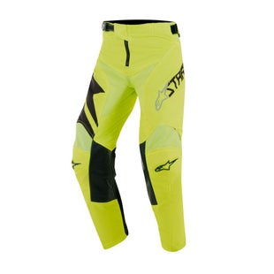 Calzones de MX Alpinestars Youth Racer Factory - Black Yellow Fluo
