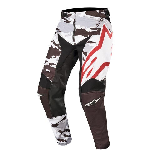 Alpinestars Racer Tactical Motocross Pants - Black Gray Camo Burgundy