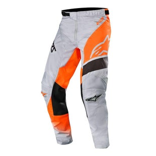 Calzones de MX Alpinestars Racer Supermatic - Light Gray Orange Fluo Black