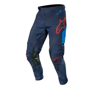 Calzones de MX Alpinestars Racer Tech Compass - Dark Navy Mid Blue Burgundy