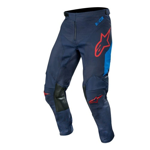 Alpinestars Racer Tech Compass Motocross Pants - Dark Navy Mid Blue Burgundy